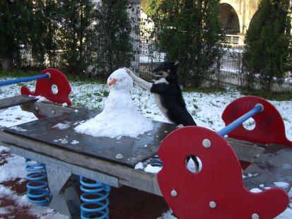 Hanna en la nieve