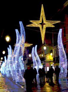 la navidad ilumina la ciudad