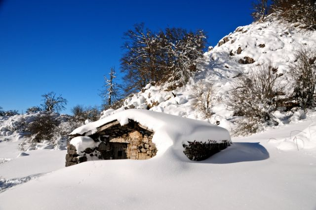 Nieve en Aralar
