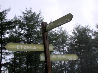 Indicador al sur de ,Garagartza, (674 m)