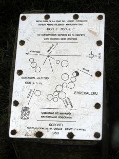 Indicador en la zona megalítica de Errekaleku