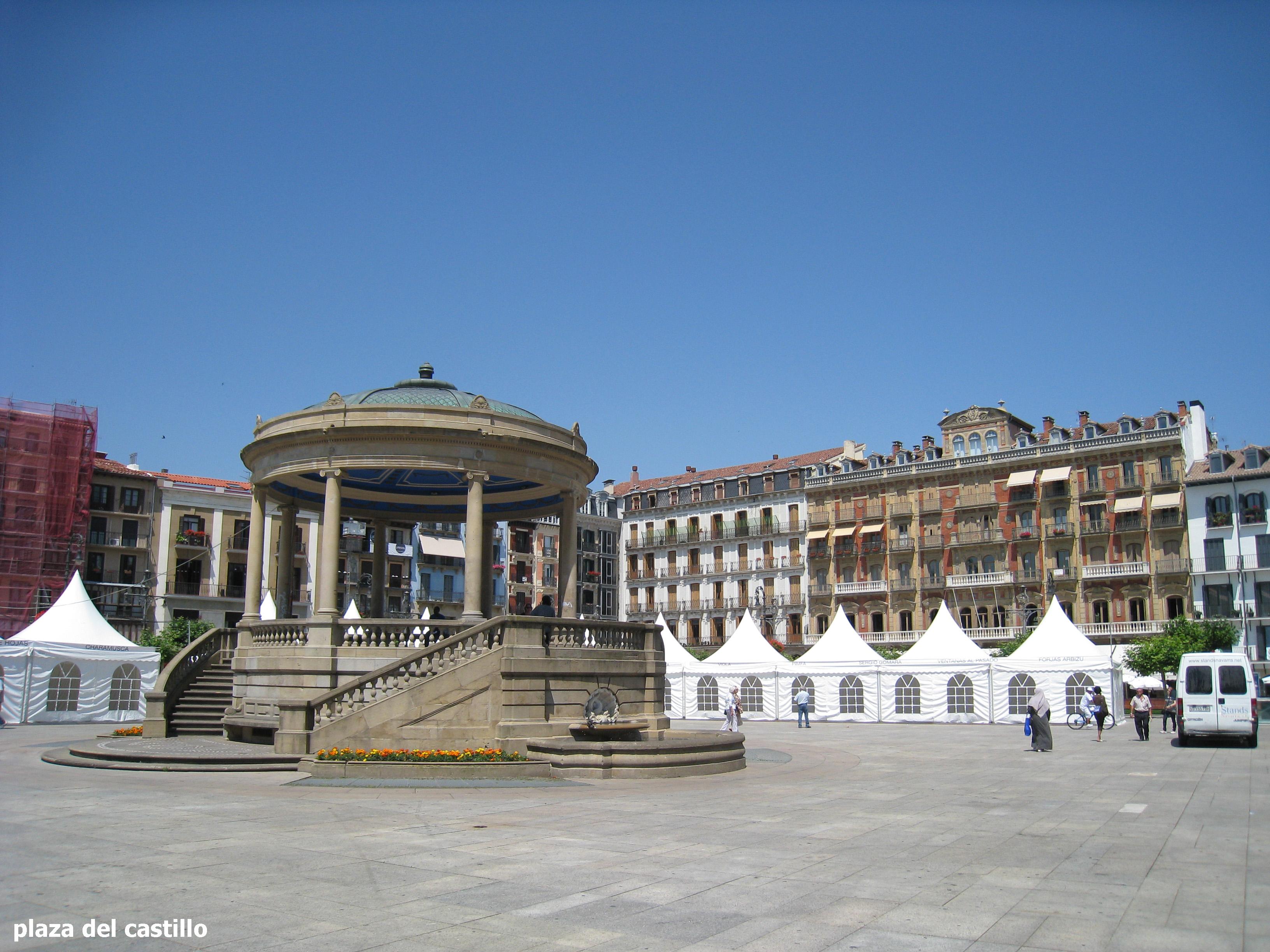 plaza del castillo de pamplona  fotos de Fotonoticias