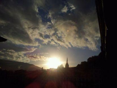 puesta del sol...