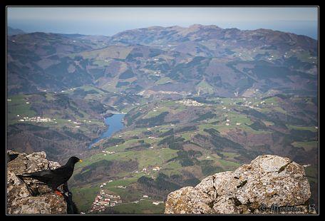 A vista de p�jaro desde el Txindoki