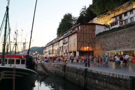 Anochecer Semana Grande 2013 en el Puerto