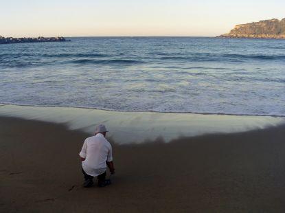 una foto al ras del mar...