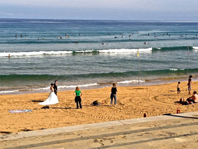 Boda en la playa de Zarautz