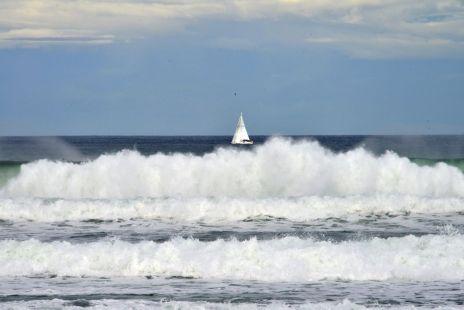 Bonitas olas en Zarautz