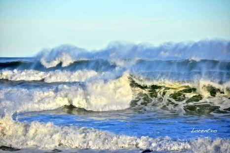 Bonitas olas en Zarautz 6-2-2014