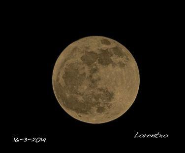 Luna llena desde Zarautz 16-3-2014