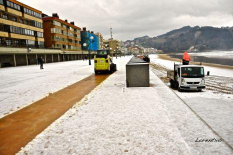 Nieve en Zarautz 6-2-2015