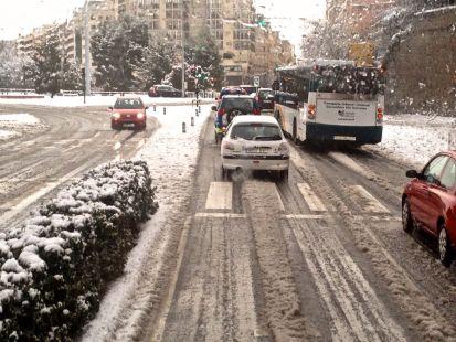 Gran nevada en Pamplona