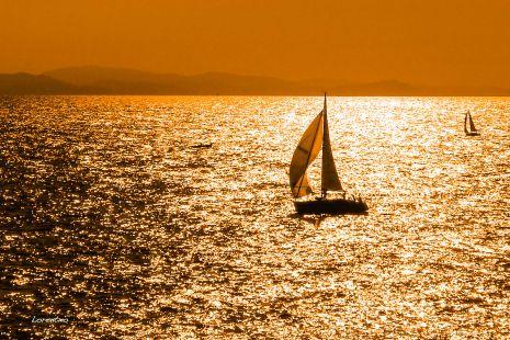Atardecer en la mar