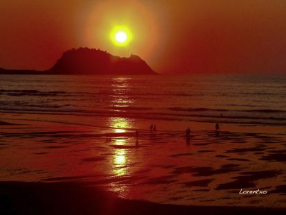Puesta de sol en Zarautz