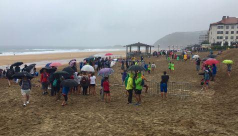 Campeonato de balon mano en la playa