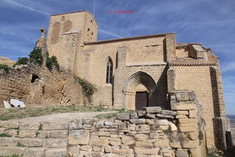 Gallipienzo Antiguo.Iglesia S.Salvador.Navarra