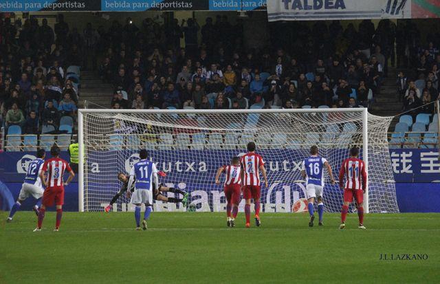 Anoeta F.Zelaia.Gol de penalty Willian Jose.2016-11-05