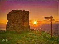 Amaneciendo en el monte Jaizkibel