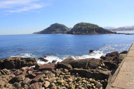 Donostia,Gran Bajamar desde El Peine del Viento